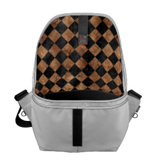 SQUARE2 BLACK MARBLE & BROWN STONE COMMUTER BAG