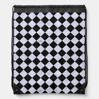 SQUARE2 BLACK MARBLE & WHITE MARBLE DRAWSTRING BAG