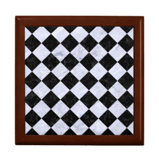 SQUARE2 BLACK MARBLE & WHITE MARBLE GIFT BOX
