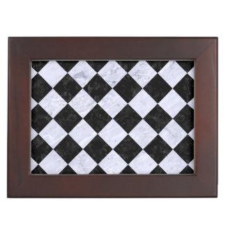 SQUARE2 BLACK MARBLE & WHITE MARBLE KEEPSAKE BOX