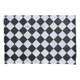 SQUARE2 BLACK MARBLE & WHITE MARBLE PILLOWCASE