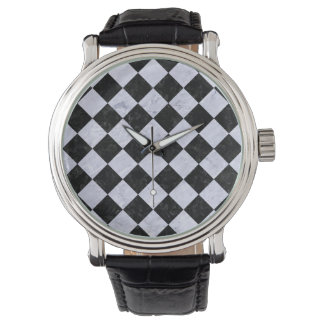 SQUARE2 BLACK MARBLE & WHITE MARBLE WATCH