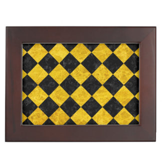SQUARE2 BLACK MARBLE & YELLOW MARBLE MEMORY BOXES