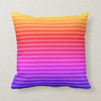 Square accent pillow pink blue lavendar orange