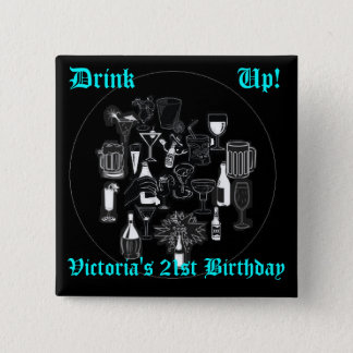 Square Birthday Button