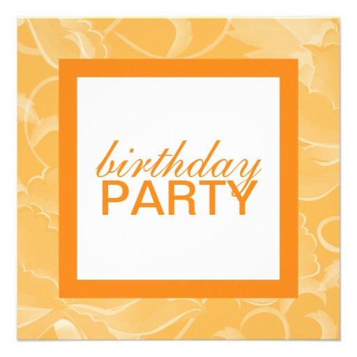 Square Birthday Party Invitations