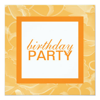 Square Birthday Party Invitations