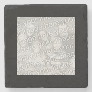 Square Black Border Photo Stone Coaster