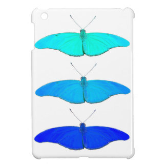 Square blue butterflies iPad mini cover