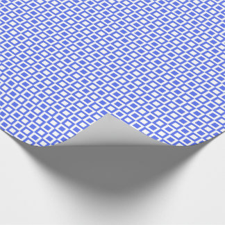 Square Blue Squares Wrapping Paper