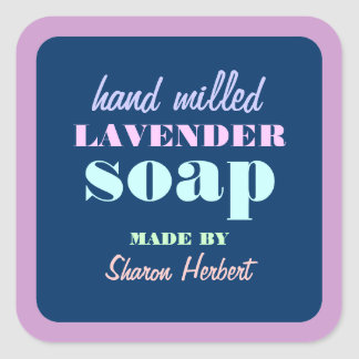 Square Border Retro Handmade Soap Label Sticker