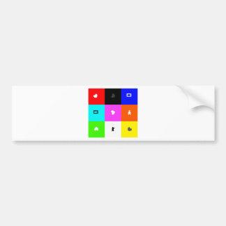 square bumper sticker