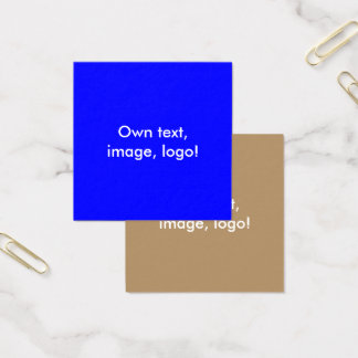 Square Business Cards Royal Blue-Gold