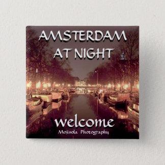 Square Button -Amsterdam at night