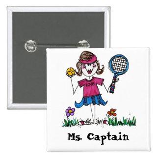 Square Button -Stick Tennis Girl