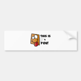 Square Cartoons Bumper Sticker