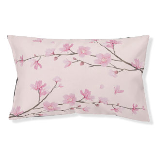 Square- Cherry Blossom - Pink Pet Bed