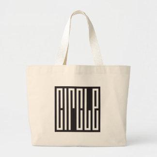 square circle - brain teaser tote bag