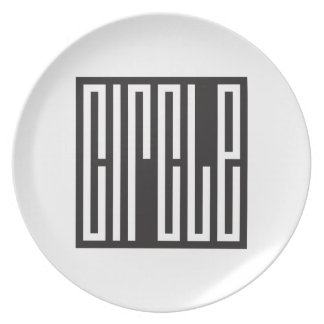 square circle - brain teaser plates
