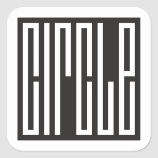 square circle - brain teaser square sticker
