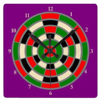 Square Clock - Dartboard Design