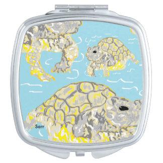 Square Compact Mirror /Sea Turtles