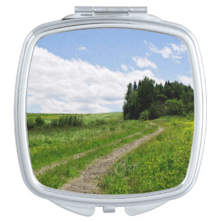 Square compact mirror - Valley