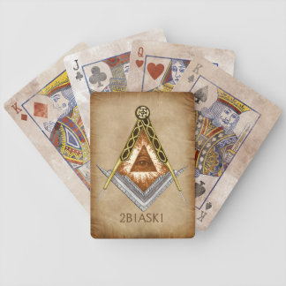Square & Compass with All Seeing Eye Bicycle Playing Cards