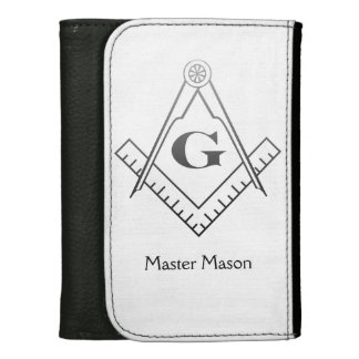 Square & Compass with Inset G - Ombre Leather Wallets