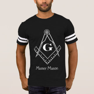 Square & Compass with Inset G - White T-Shirt