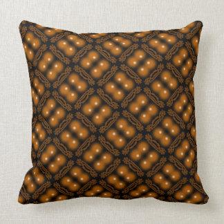 Square cushion Jimette brown Design on black