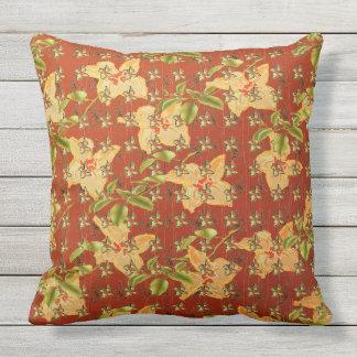 Square cushion vintage floral design