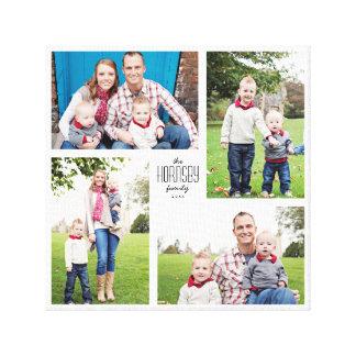 Square Custom Family 4-Photo Canvas