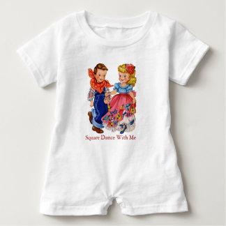 Square Dance Infant Romper