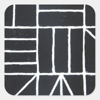 Square Dance line minimalism Square Stickers