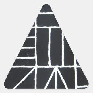 Square Dance ( line minimalism ) Triangle Stickers