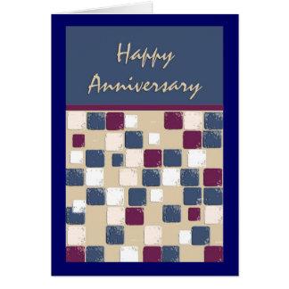 Square Dance Mosaic Anniversary Card