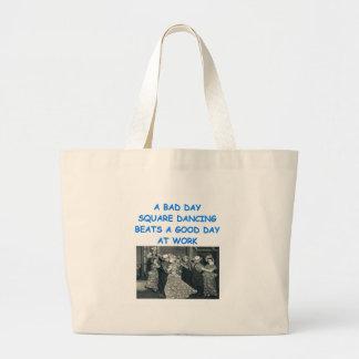 square dancing canvas bag