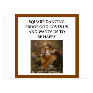 square dancing postcard