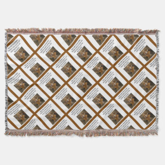 square dancing throw blanket