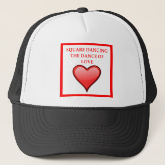 square dancing trucker hat