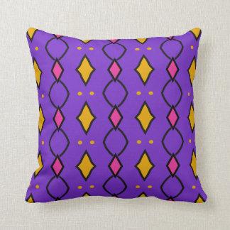 Square decorative cushion, coloured, purple with cushion