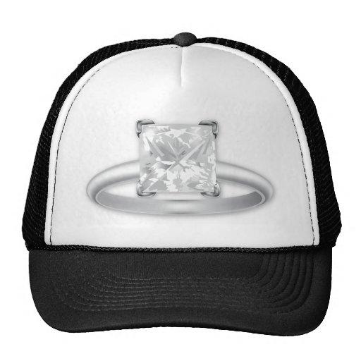 Square Diamond Ring Hat