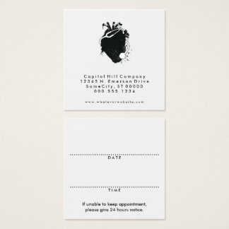 square doctor appointment reminder square business card
