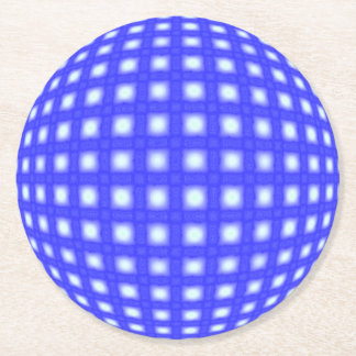Square Dot Globe Round Paper Coaster