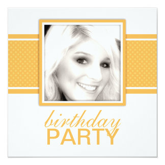 Square Dots Birthday Party Invitations