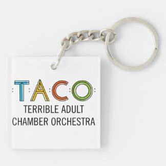 Square (Double-Sided) TACO Keychain