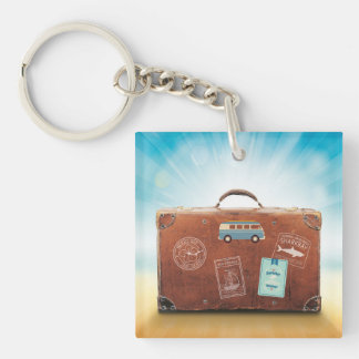 Square (double-sided) Traveler Keychain