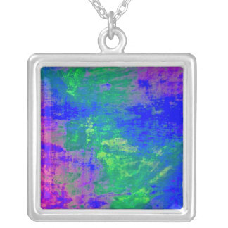 Square Elven Magic Silver Plated Necklace