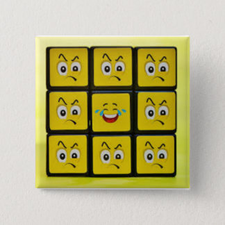 """square emoji faces 5.1 cm (2"""") Square Badge"""